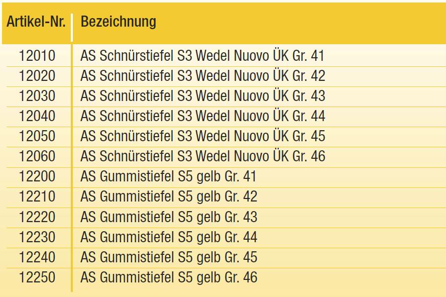brand new 1eb28 c53d6 AS-Schuhe - B+S Mietpark - Baumaschinen-Vermietung und Baushop